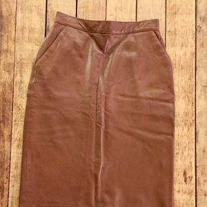Calvin Klein leather skirt 12